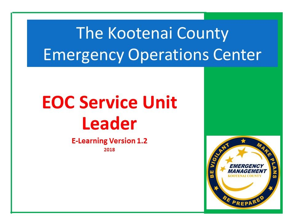 EOC Service Unit Leader  E-Learning 1.2